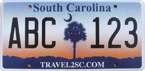 SC old license plate